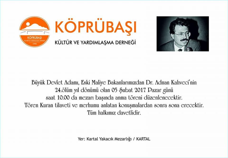Trabzonlular Adnan Kahveci'yi Anacak!