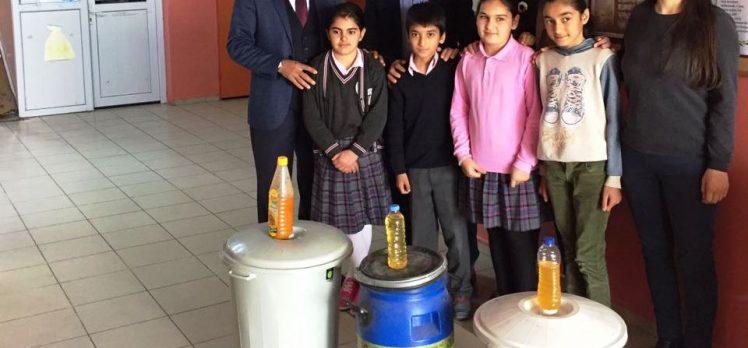 Temiz çevre için geri dönüşüme 157 litre atık yağ
