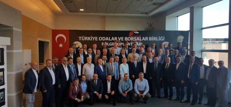 TOBB Marmara Bölge Toplantısı'na GTO Başkanı Çiler Katıldı