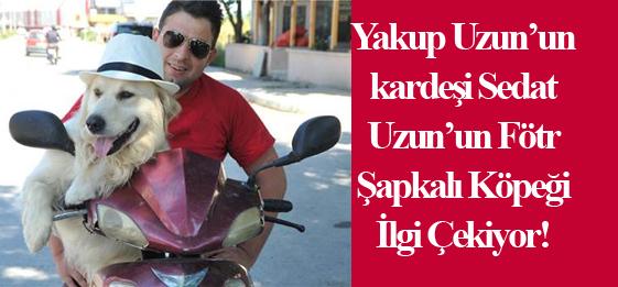 Yakup Uzun'un kardeşi Sedat Uzun'un Fötr Şapkalı Köpeği İlgi Çekiyor!