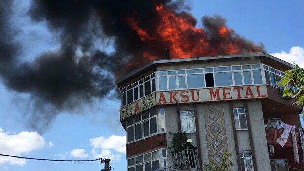 Dilovası'nda Korkutan Yangın