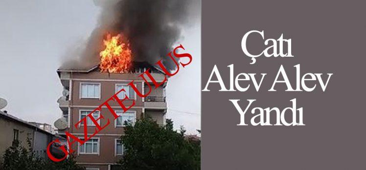 Apartman Çatısı Alev Alev Yandı