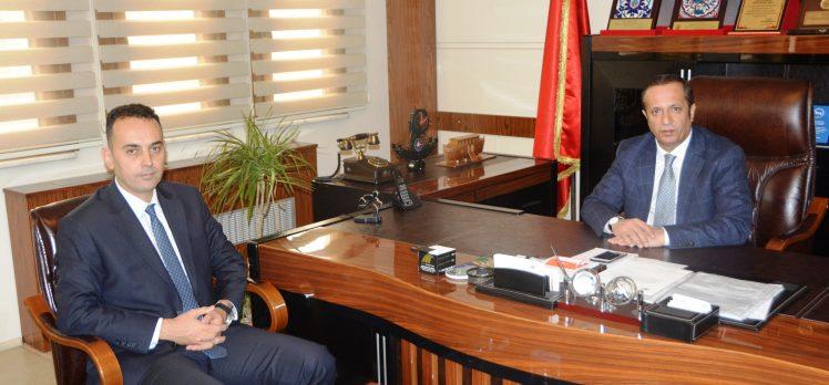 Yeni Emniyet Müdüründen Başkan Toltar'a ziyaret