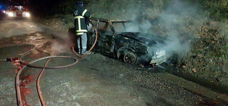 Gebze'de Araç Kül Oldu: 1 Yaralı