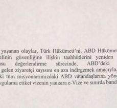 Türkiye-ABD Arasında Vizeler Karşılıklı Olarak Askıya Alındı