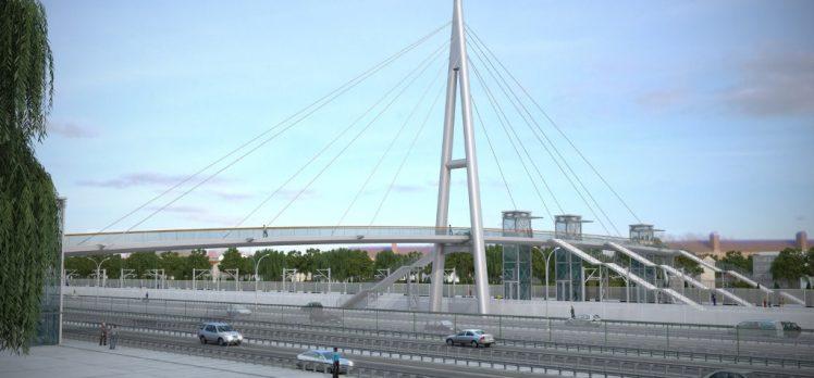 Gebze'ye Modern Yaya Köprüsü Yapılıyor