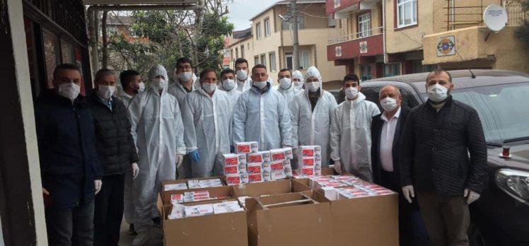 CHP Darıca vatandaşlara maske dağıttı