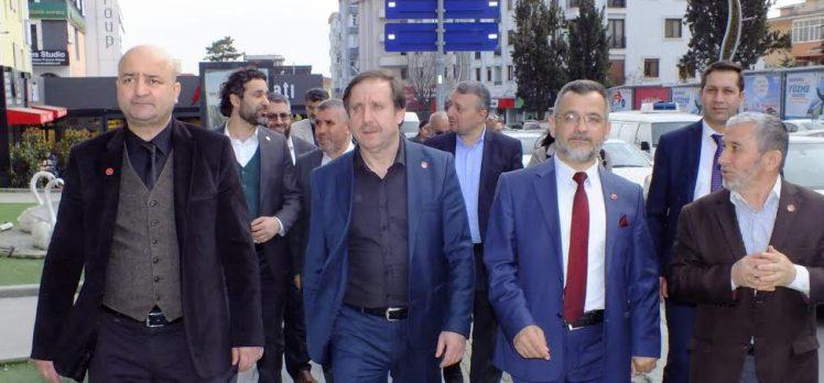 Refah Partisi'nden esnaf ziyaretleri