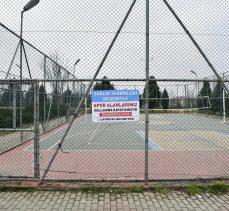 Spor alanları kullanıma kapatıldı!