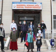 Evi yanan aileler Barınma Merkezi'ne yerleştirildi