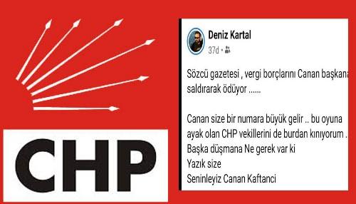 """CHP'Lİ KARTAL VEKİLLERE """"DÜŞMAN"""" DEDİ!"""