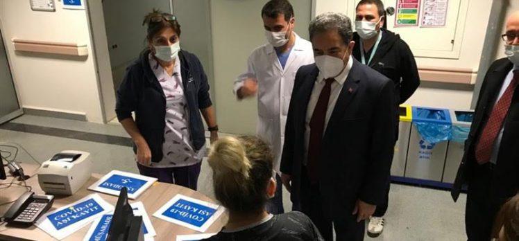Kaymakam Güler sağlıkçıları ziyaret etti