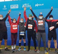 Sportif Kandıralılar İstanbul yarı maratonunda ter döktü
