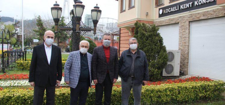 Büyükşehir Koordinatörleri Korkmaz'ı ziyaret etti