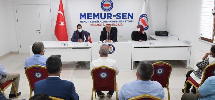 Vali Yavuz, Memur-Sen Yönetimini Ziyaret Etti